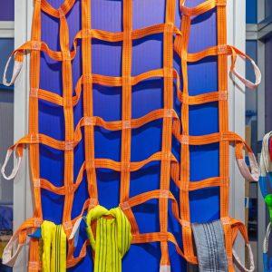 Orange Net for Secure Fastening Heavy Cargo